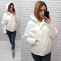 Куртка женская оверсайз, арт.186 + батал, цвет молоко