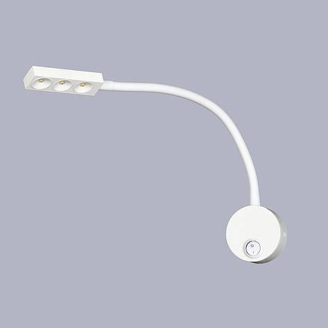 Белый прикроватный светильник, фото 2