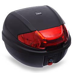 Мотосумка (1 кофр) центральный 2013 (PL, пластик, р-р см, черный-красный)