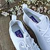 Жіночі білі кросівки сітка текстиль сліпони кеди дихаючі перфорація білі кросівки сітка аквашузы, фото 2
