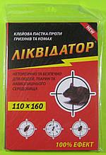 Клейова пастка від гризунів і комах Ліквідатор (110 на 160 мм)