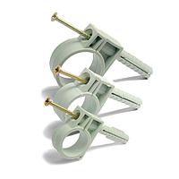 Обойма для труб Ø 20мм с ударным шурупом