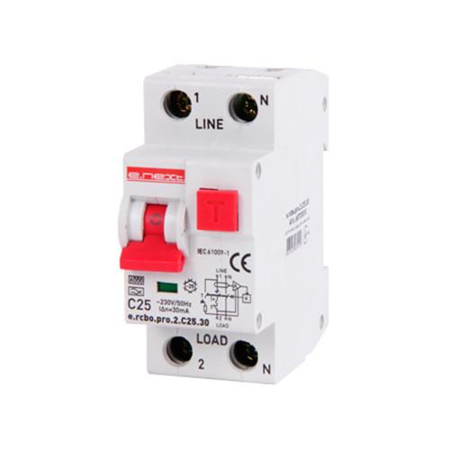 Дифференциальный автомат E.NEXT e.rcbo.pro 1P+N 25А 6кА тип С