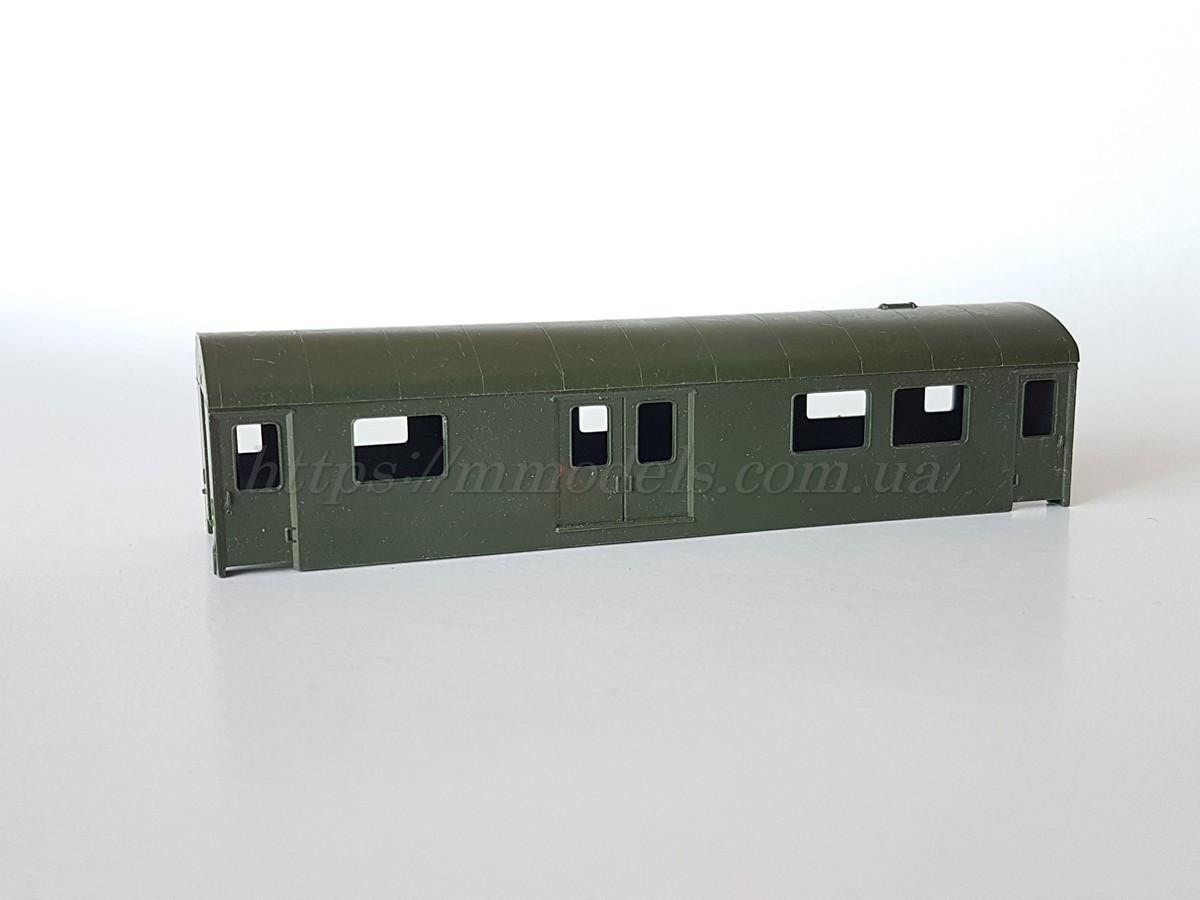 Piko   запасная часть - модель кузова почтового вагона для модельных и творческих работ, масштаба H0, 1:87
