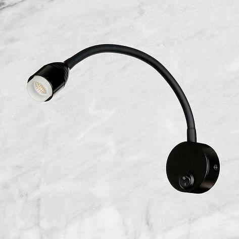 Прикроватная светодиодная чёрная бра, фото 2