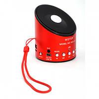 Портативна колонка WS-A9 USB / FM / MP3 / Micro-SD, 3,5mm стерео, червона, 80db, від акумулятора 550mAh, бездротова колонка