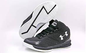 Кроссовки высокие UAR 3077-2 размер 41-45 черный-белый