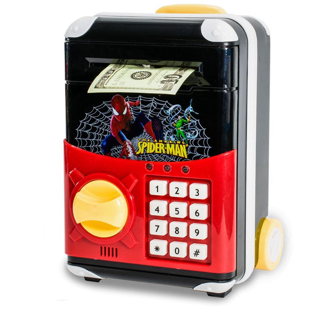 Дитячий сейф з електронним кодовим замком, для дітей | Спайдермен | дитяча скарбничка з доставкою