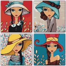 Картины по номерам Полиптих Яркие девочки