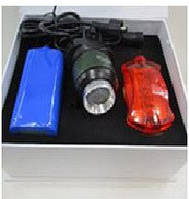 Ліхтарик для велосипеда Bailong BL-B03A-T6 від акумулятора 18650 / мережі, Zoom, кріплення на кермо,