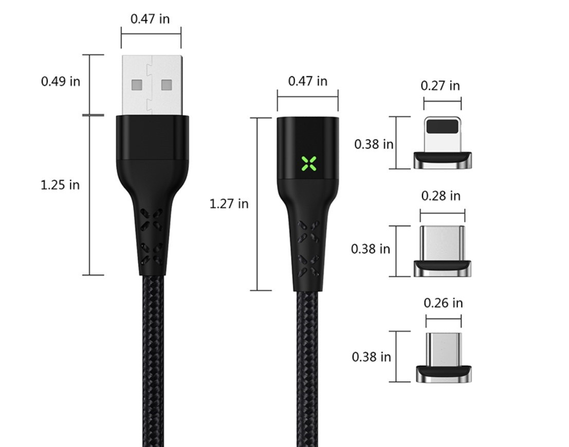 Магнитный micro USB кабель MANTIS