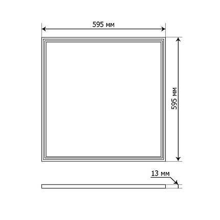 Led панель 600x600 OEM JL-48-PL-CW 48Вт 6500K BIOM, фото 2