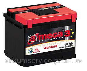 Аккумулятор автомобильный A-Mega STANDART 61AH R+ 540A (M3)низкий