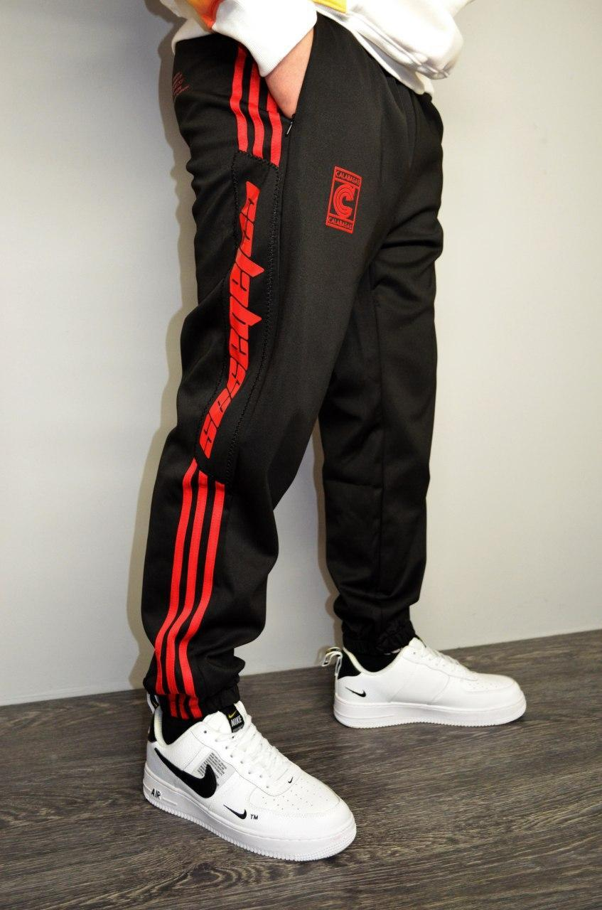 Штаны adidas YEEZY Calabasas Black / red