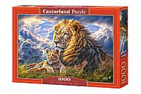 Пазлы Лев и львёнок, 1000 элементов Castorland