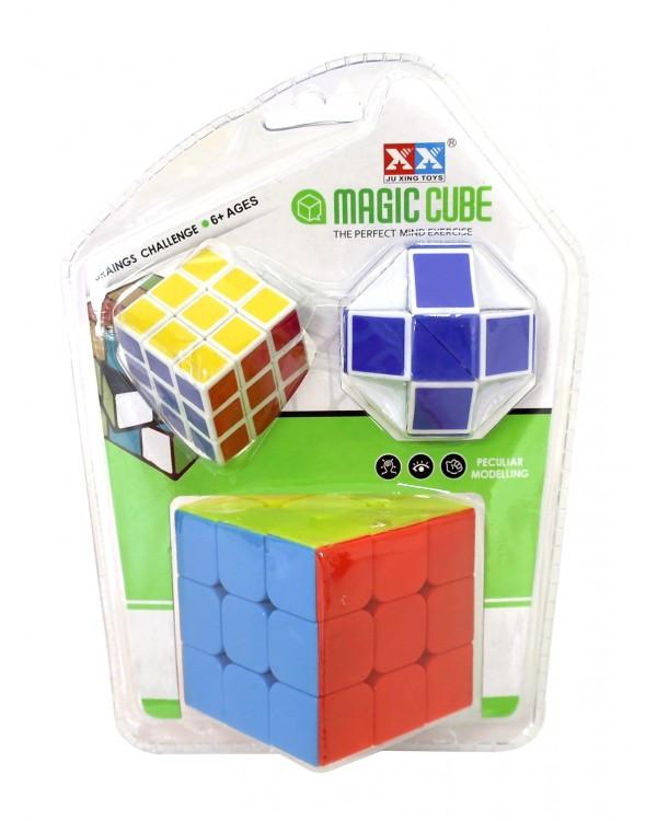 Кубик логика 8833C-3 3*3, +маленьк. кубик+змейка, в слюде 19*14*5см