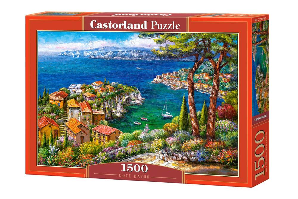 Пазлы Лазурный берег, Франция, 1500 элементов Castorland