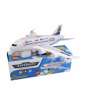Муз. самолет W248-13 батар., муз., свет, в коробке 22*7*7,5 см