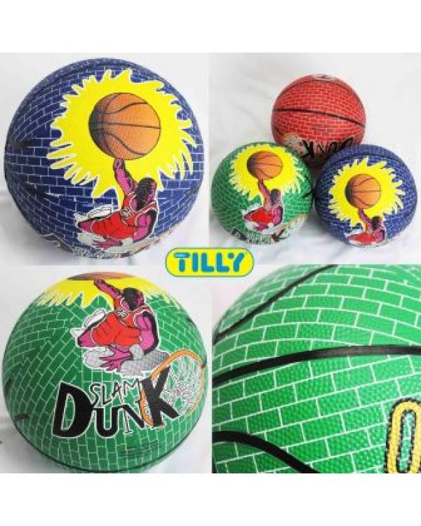 Мяч баскетбольный BT-BTB-0015 резиновый, размер 7 560г 3цв.ш.к./50/