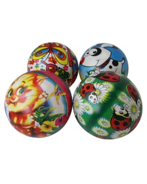 """Мяч 9"""" BT-PB-0121 с круговым рисунком 4в.70г сетка /300/"""