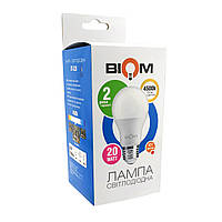 Светодиодная лампа BIOM BT-520 А80 20W E27 4500K (Груша)