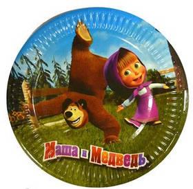 """Тарілки паперові """"Маша і Ведмідь"""", 10 шт, Набор тарелок """"Маша и Медведь"""""""