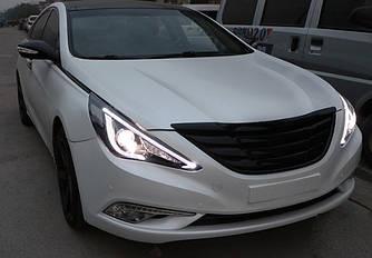 Передние фары Led оптика Hyundai Sonata YF ксенон (стиль 3)