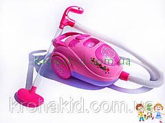 """Детский игрушечный пылесос Vacuum Cleaner 2039A с эффектами, работает от батареек, собирает """"мусор"""""""