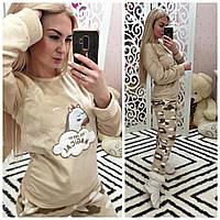 Теплая женская махровая пижама Турция LA-17512, фото 1
