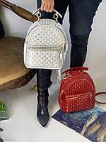 Женский Рюкзак Valentino Rockstud Spike белый (реплика), фото 1