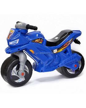 Мотоцикл 2-х колёсный с сигналом (синий), арт. 501в.3 СИН, Орион