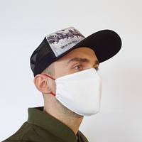 Маска защитная на лицо многоразовая 2-х слойная лапки