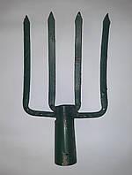 Вилы садово-огородные копальные кованые сварные (4 зуба, Токмак)