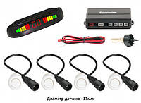 Парктронік Parking Assistant Sensor PS-201 4 датчика LED дисплей паркувальний радар для автомобіля білий