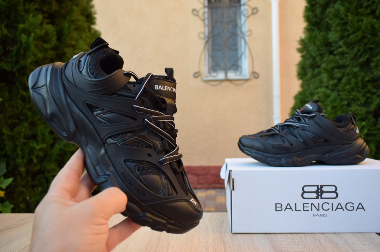 Женские кроссовки Balenciaga Track (черные) 2889