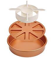 Багатофункціональна форма для випічки COPPER CHEF CAKE PAN 24см, антипригарная, кругла, Форма для запікання