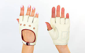 Перчатки автомобильные с открытыми пальцами BC-0132 размер M-L цвета в ассортименте