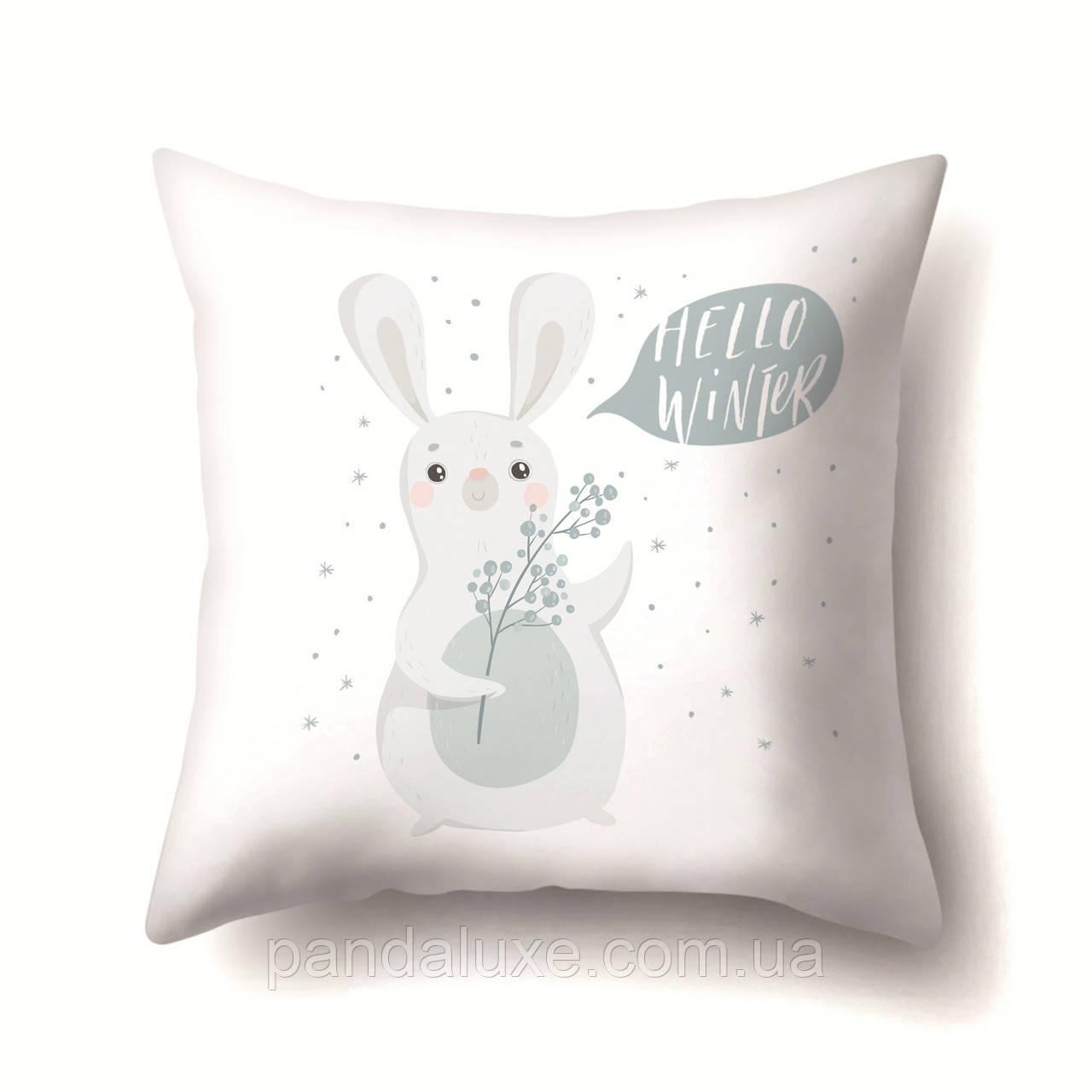 Подушка декоративная для дивана 45 х 45 см Привет Зима