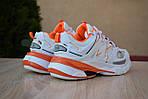 Женские кроссовки Balenciaga Track (бело-оранжевые) 2888, фото 3