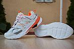 Женские кроссовки Balenciaga Track (бело-оранжевые) 2888, фото 6