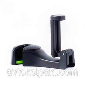 Автодержатель для телефона 2 в 1 с крючком захват 55-95 мм на подголовник Белавто