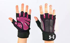 Перчатки для тяжелой атлетики UAR BC-2682 (размер S-XL цвета в ассортименте)