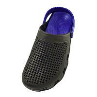 "Сабо мужские Медицинская обувь кроксы ""Like Crocs"" (40,41,42,43, 44,45) Черно-синий W22032020-1"