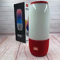 Бездротова Bluetooth колонка JBL charge PULSE 3 червона, 20Вт, 80дБ, USB, від акумулятора, портативна колонка