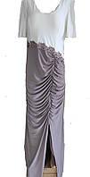 Нежное вечернее платье большого размера с юбкой на запах, Турция Luxso
