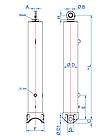 Телескопічний циліндр OK-3-2835-135-BR Hydrotip/RP Techniek, фото 2