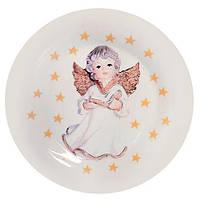 Тарелка 120939-07 керамика, 26.5см, белая с рисунком, блюдо круглое, тарелки, столовая посуда, посуда, столовая тарелка