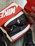 Мужские кроссовки Nike Air Force Flyknit Hight Dark Grey (серые) 152PL, фото 3