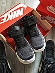 Чоловічі кросівки Nike Air Force Flyknit Hight Dark Grey (сірі) 152PL, фото 5