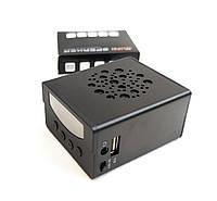Портативная колонка катер акустика для телефона мини с флешкой радио черная KS370